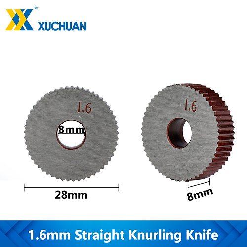 1.6mm Straight Knurling Knife Inner Hole Embossing Wheel Knurling Tool Gear Shaper Cutter Lathe Knurling Wheel
