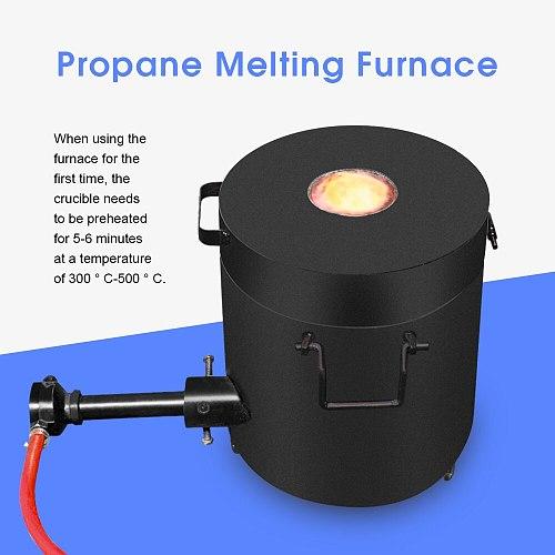 Melting Furnace Kit Propane Graphite Crucible Tongs 1300°C Casting Refining Smelting Precious Metals Gold Silver Tin Aluminum