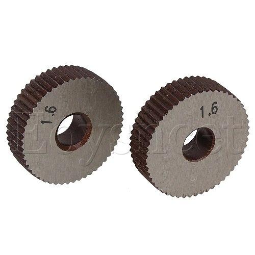 2pcs Knurling Tool Single Straight Wheel Linear Knurl 1.6mm Pitch 8 x 28mm