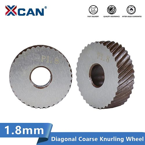 XCAN Metal Lathe Wheel Knurling Tools Diameter 26mm Anti Slip Diagonal Coarse Knurling Wheel 2pc 1.8mm