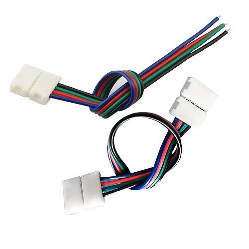 RGB LED Strip Connector 4 Pin 8mm 10mm 12mm Free Welding Connector 5pcs/lot