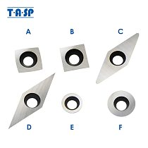 TASP Carbide Insert Woodturning Tools Replacement Cutters Torx M4 Screw Hollowers Finishers Wood Lathe Chuck Turning Tools