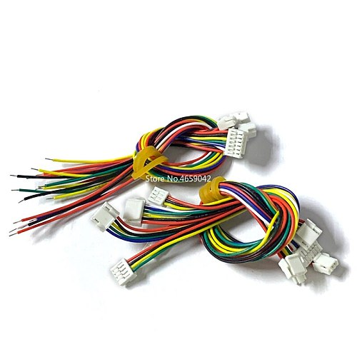 5PCS GH1.25 1.25 Single Head Double Head Female Connector Terminal Cable 15cm 1.25mm Connector witch lock 2p 3p 4p 5p 6p 7P 8P