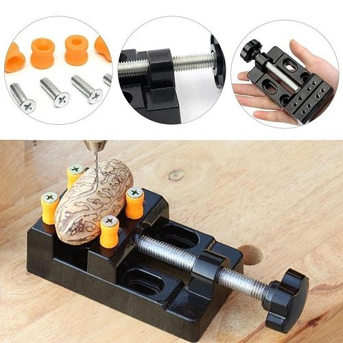 1Pcs Black Jaw Bench Clamp Mini Drill Press Vice Micro Clip Flat Vise DIY Hand Tools Carving Bench Clamp Drill 125x62x36mm
