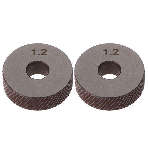 2pcs 1.2mm Diagonal Linear Knurl Wheels Knurling Knurler Tool 1.0/1.2/1.8/3.0mm Pitch