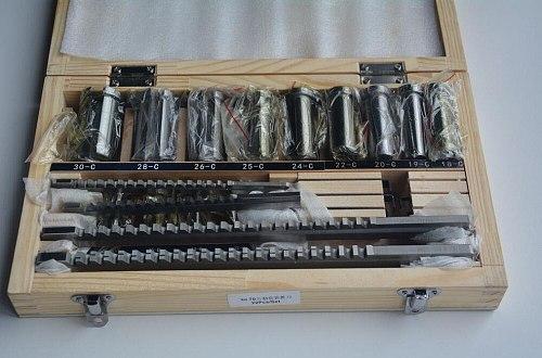 22pcs Keyway Broach Set Bushing Shim Set Metric System 12-30 HSS Keyway Tool  knife for CNC Machine New