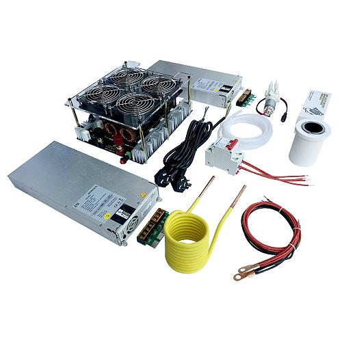 5000W ZVS Induction Heater Induction Heating PCB Board Heating Machine Melted Metal + Coil+Pump+ crucible+power supply
