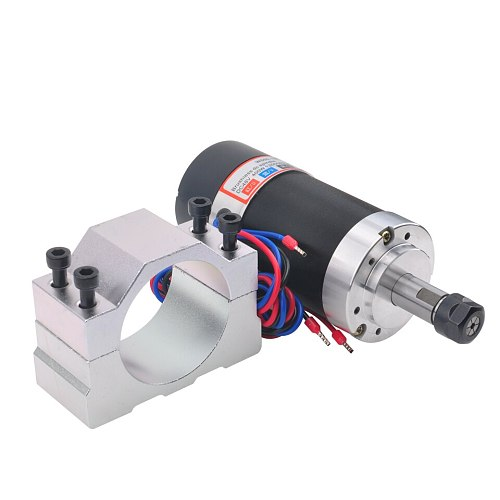400W Air Cooled Spindle Motor DC Brushless Spindle ER11 With 55MM Clamp Mounting Bracket For CNC Engraver Milling Machine