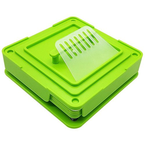 Capsule Filling Machine Manual Holder Board Dispensers Encapsulator Durable Green Food Grade ABS 100 Holes Size 0 With Tamper