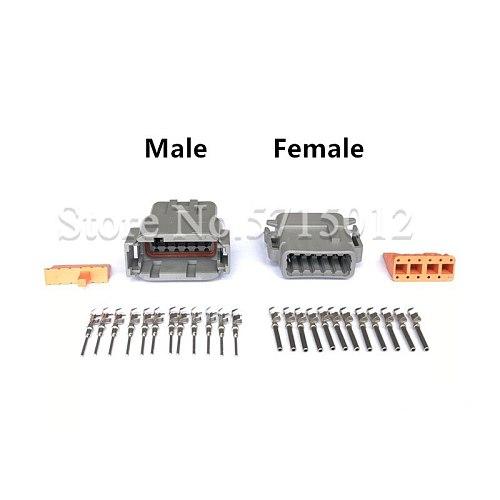 12 Hole DTM DTM04-12P / ATM04-12P DTM06-12S / ATM06-12S Auto Deutsch Connector Automotive Connectors With Pins