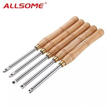 ALLSOME Wood Turning Tool Carbide Insert Cutter With Wood Handle Lathe Tools Round Shank Woodworking Tool HT2872