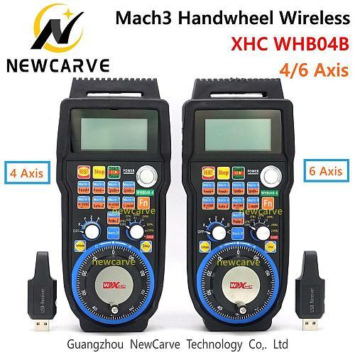 XHC CNC Handwheel Wireless Mach3 MPG Pendant Handwheel For Milling Machine 4 6 Axis MPG WHB04B-4 WHB04B-6 NEACARVE