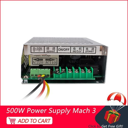 New Spindle Power Supply 220V 110V With Speed Control Mach3 CNC Adjustable Switching Power Supply For Spindle Motor 500W