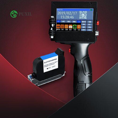 LCD screen  handheld smart inkjet printer USB production date food packaging code machine batch number