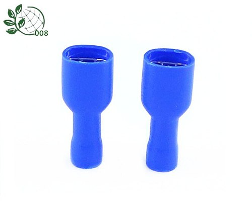 50PCS blue FDFD2-250 Female with Male Spade Insulated Electrical Crimp Terminal Connectors H1E1 Cable Terminals 50pcs
