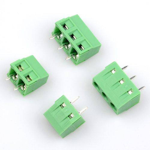 10PCS kf120-2.54-2P 3P 2.54MM pitch straight pin pcb screw terminal block connector KF120 2PIN 3PIN green