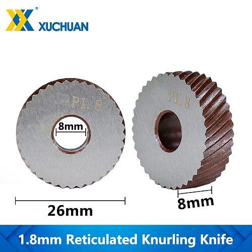 1.8mm Reticulated Knurling Wheel Lathe Knurling Gear Shaper Cutter Steel Lathe Tool Reticulated Knurling Knife