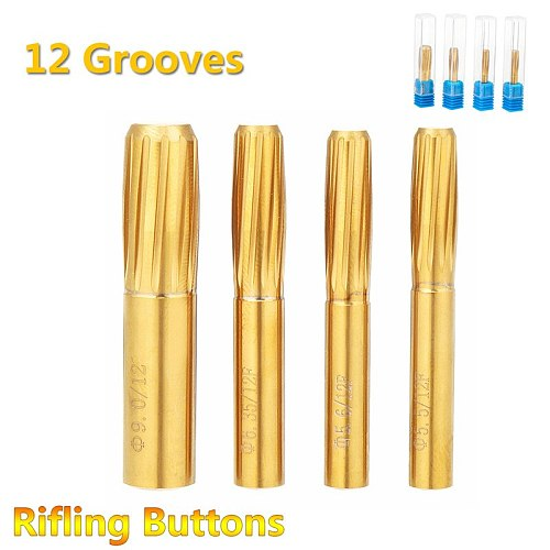New Rifling Button 5.5mm 5.6mm 6.35mm 9.0mm 12 Flutes Hard Alloy Chamber Helical Machine Reamer Break Durable Tool Accessories