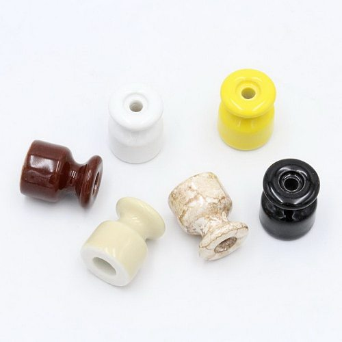 5 pieces 10 pieces 50 pieces Porcelain Insulator for Wall Wiring Ceramic Insulators With Screw