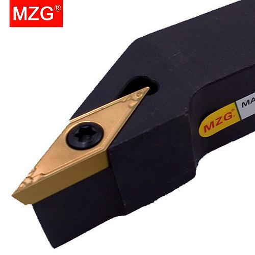 MZG CNC 10mm 12mm SVJBR1212H11 External Turning Toolholder VBMT VBGT Inserts Lathe Cutter Bar Boring Arbor Clamped Steel Tool