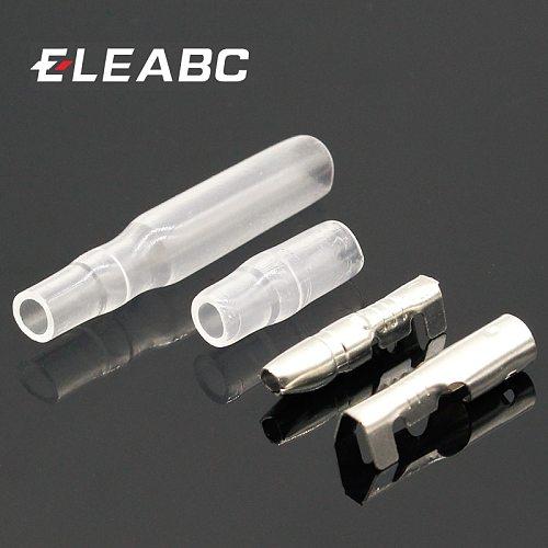 50 Sets 4mm Bullet Crimp Terminal Wire Connectors Male Female Socket w/ Sheath