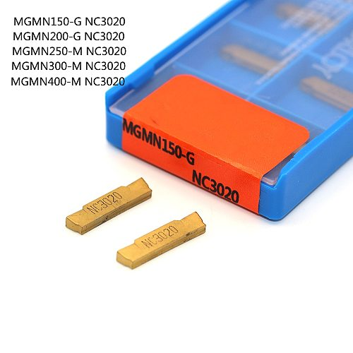 10PCS MGMN150 MGMN200 MGMN300 MGMN400 NC3020 NC3030 PC9030 grooving tool CNC slotted carbide metal turning lathe tools
