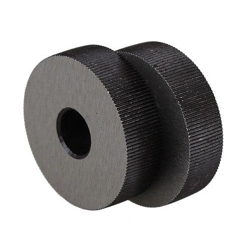 2x Single Straight Knurling Tool 8 x 28mm Linear Knurl Tool Wheel 0.6mm Pitch