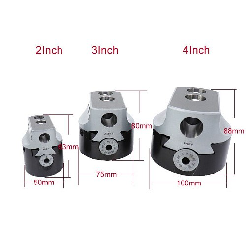 3Inch 75mm Boring Head 0.005''Lathe Milling Tool Holder Shank  +3 Wrench  For 3/4'' Hole Boring Cut