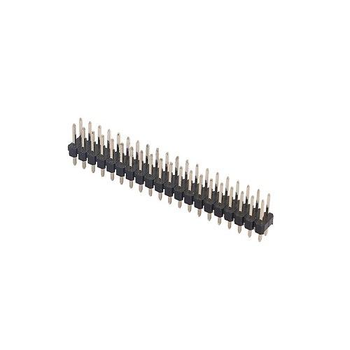 1PCS 2.54mm Break-away 2x20-pin  Strip Double Male Connector Dor Raspberry Pi Zero Strip Board Module Electronic Part