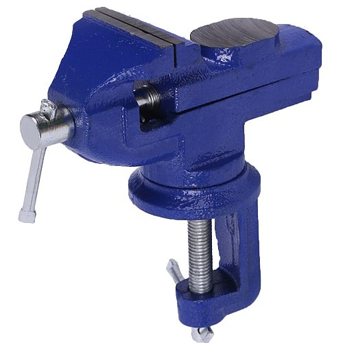 Table Vise Light Duty Mechanic Clamp-on Table Vise 360 Degree Swivel Base Cast Workbench Household Small Bench Vise