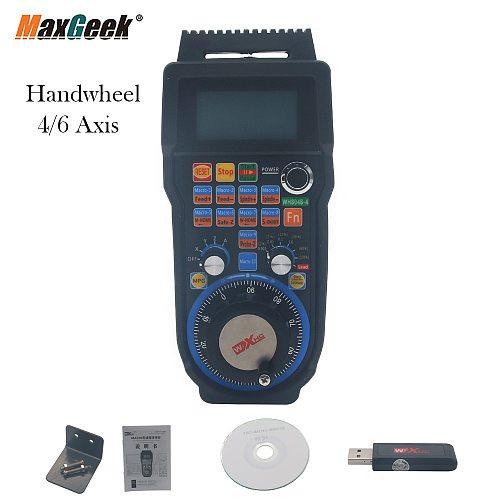 Maxgeek 4 Axis 6 Axis XHC Usb Wireless Mach3 Remote MPG Pendent CNC pendant USB Handwheel WHB04B-4/6