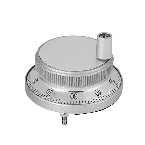 1 Pcs CNC Manual Pulse Generator CNC Pulse Encoder 5V 60MM Hand Wheel Pulse Encoder Mill Router Manual Control For CNC System