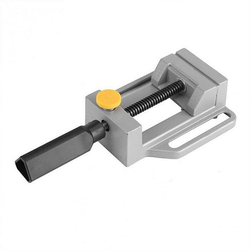 Universal Drill Press Vise Table Screw Vise Aluminium Alloy Bench Clamp Screw Vise for DIY Craft Mold Fixed Repair Tools