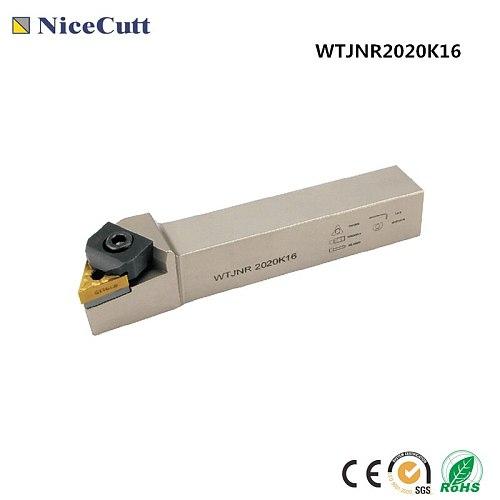 Lathe tool WTJNR2020K16 WTJNL2020K16 External Turning Tool Holder for TNMG1604** insert Lathe Tool Holder Freeshipping Nicecutt