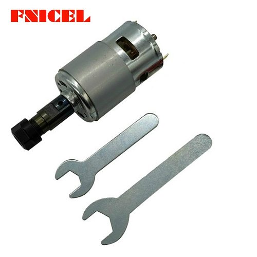 775 DC Motor 12-36V 4000-12000 RPM Ball Bearing Spindle Motor with ER11 Extension Rod for 1610/ 2417/ 3018 CNC Router Machine