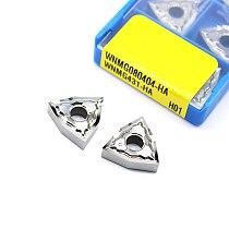 10PCS WNMG080408 HA H01 WNMG 080408 Aluminum cutter blade Insert Cutting Tool turning tool CNC Tools AL +TIN Alloy wood