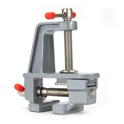 Mini Aluminum Bench Vise Woodworking Table Clamp Crimping Hand Tool Table Vise Mini Locksmith Clip Small Jewelers DIY Parts