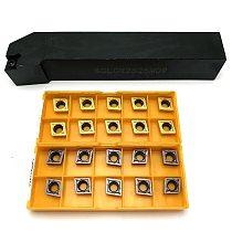 SCLCR1212H09 SCLCR1616H09 SCLCR2020K09 SCLCR2525M09 CNC Lathe Tool Holder +10pcs CCMT09T304 CCMT09T308 Carbide Inserts lathe set