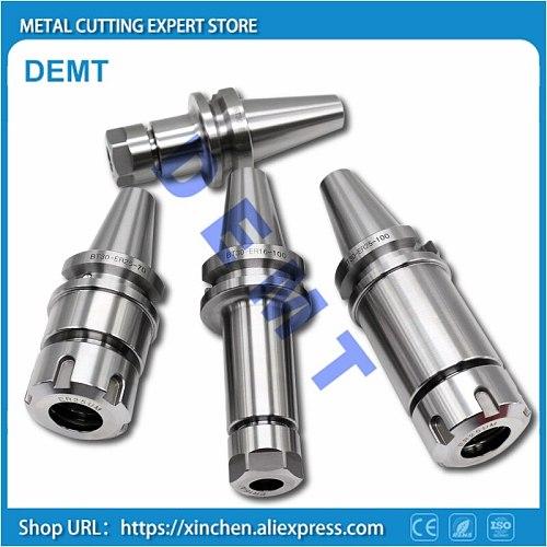 New Spindle BT30 ER16 ER20 ER25 ER32 60L 100L High Precision Full Grinding White Spring Chuck ER CNC Machine Tool BT30 Spindle