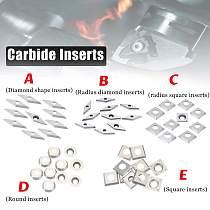 New 10pcs Carbide Inserts For Lathe Turning Tool Diamond Shape/Radius Diamond/Radius Square/Round/Square Inserts