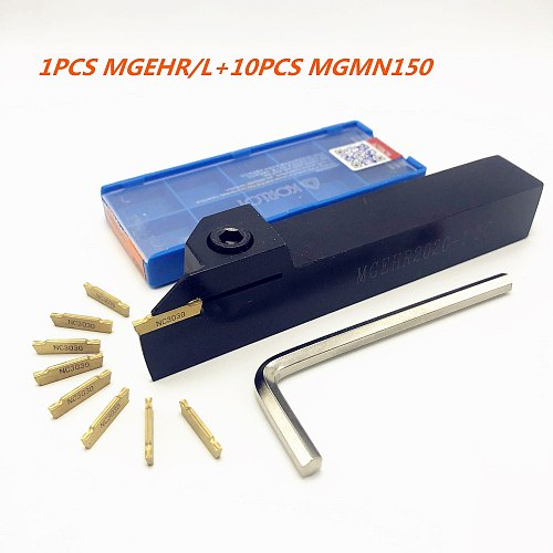 1PCS MGEHR1010-1.5 MGEHR1212-1.5 MGEHR1616-1.5 MGEHR2020-1.5 MGEHR2525-1.5 lathe tool holder + 10PCS MGMN150 cutting tools