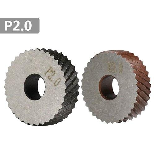 2pcs 2.0mm  Metal Lathe Wheel Knurling Tools Diagonal Coarse Knurling Wheel