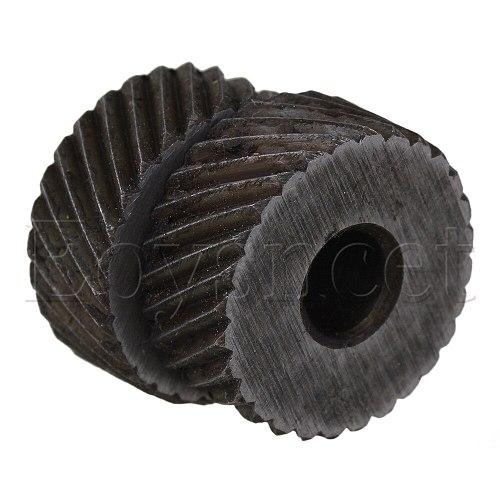 2PCS 19 x 8mm Knurl Wheel Tool Diagonal Coarse Twill Pattern 1.6mm Pitch Roller