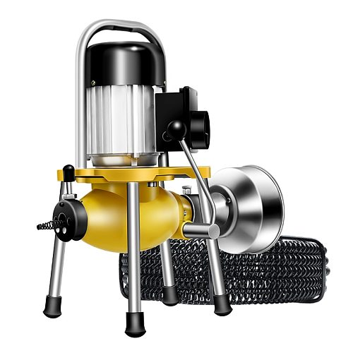 GQ-180 Electric Pipe Dredging Machine Sewer Dredger Toilet Floor Drain Dredging Cleaning Machine Home Profession High Power1500w