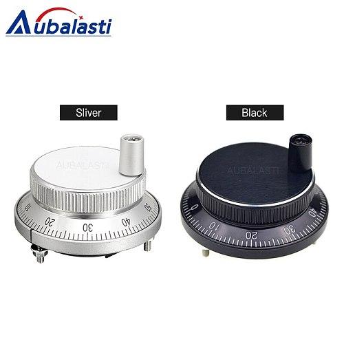 Aubalasti CNC Pulser Handwheel 5V 60mm 80 100PPR Manual Pulse Generator hand wheel Machine Rotary Encoder Electronic 4pins 6pins