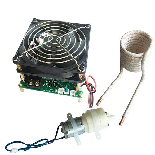 1200W 25A ZVS high frequency induction heating machine without taps zvs with short circuit protection + pump + coil