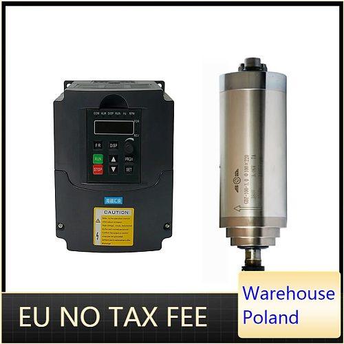 CNC router spindle motor 800w 1.5kw 2.2kw ER11 ER20 water cooled kit 1.5kw 2.2kw vfd inverter 220v 110v for cnc milling machine