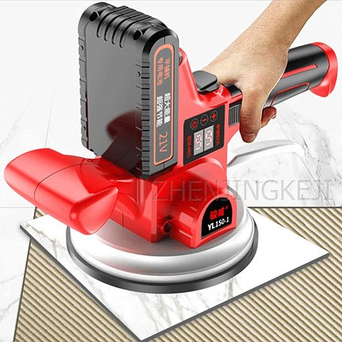 Ceramic Tile Tiler Tiling Machine High Power Vibrator High Efficiency Portable Digital Display Tiling Tools Vibration Adjustment