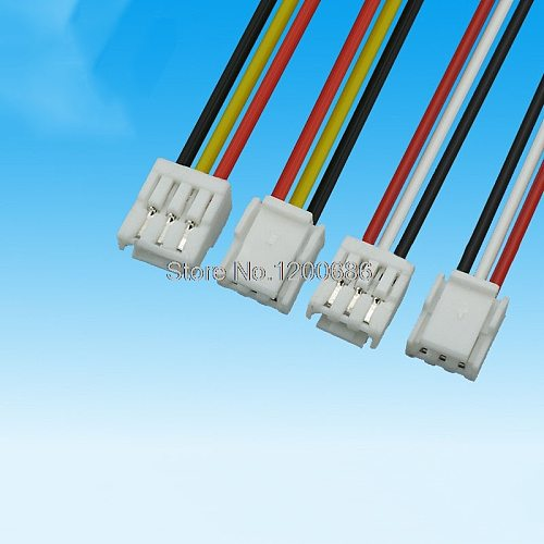 30CM 10 SETS 2P/3P/4P/5P/6 Pin JST GH Series 1.25 Female Double Connector with Wire 1007 28 AWG GH1.25 1.25MM