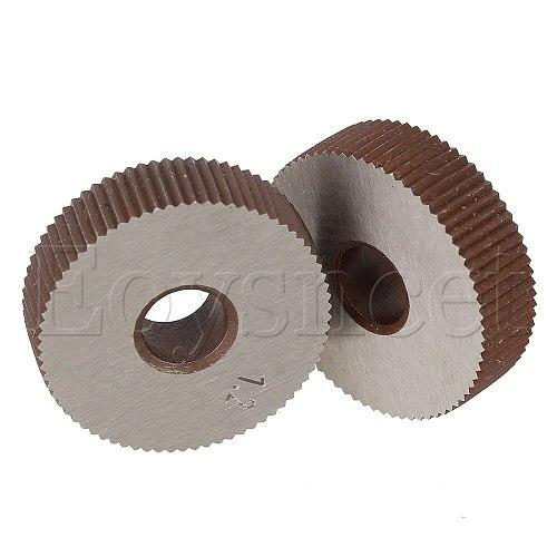 2 x Durable Metal Straight Coarse Linear Knurl 1.2mm Pitch Single Wheel 28mm Dia